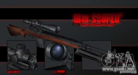 M14 Sniper para GTA San Andreas segunda pantalla