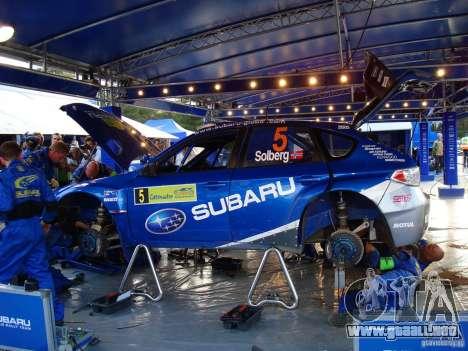 Vinilo nuevo Subaru Impreza WRX STi para GTA San Andreas vista hacia atrás