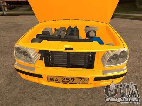 Volga GAZ-31105 Taxi para vista lateral GTA San Andreas