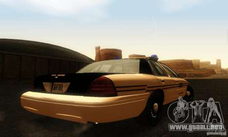 Ford Crown Victoria Tennessee Police para GTA San Andreas left