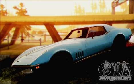 Chevrolet Corvette C3 Stingray T-Top 1969 para la visión correcta GTA San Andreas