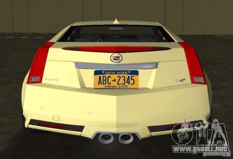 Cadillac CTS-V Coupe para GTA Vice City vista posterior