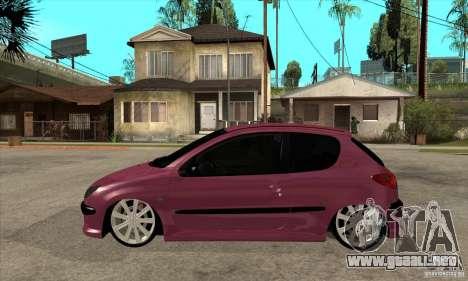 Peugeot 206 Suspen AR para GTA San Andreas left