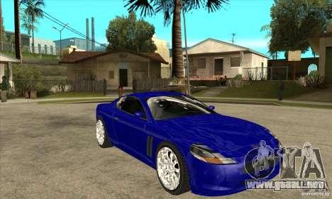 GTA IV SuperGT para GTA San Andreas vista hacia atrás