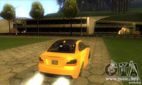 BMW 135i Coupe Custom para GTA San Andreas vista hacia atrás