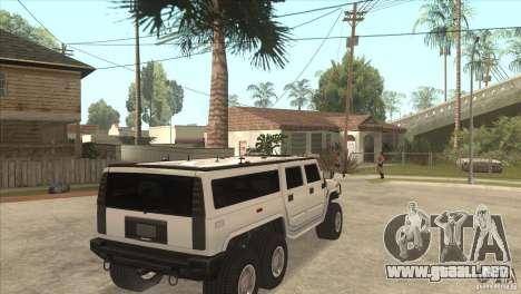 Hummer H6 para la visión correcta GTA San Andreas