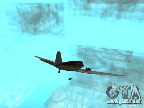 Bombas para aviones para GTA San Andreas segunda pantalla