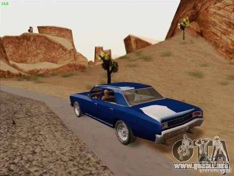 Chevrolet Chevelle para visión interna GTA San Andreas