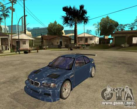 BMW M3 GTR de Need for Speed Most Wanted para GTA San Andreas
