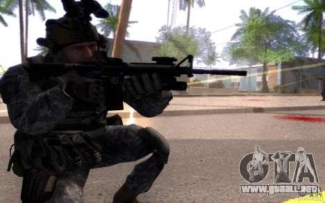 El cabo Dunn para GTA San Andreas tercera pantalla