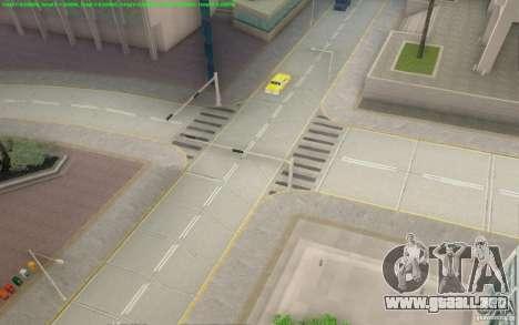 Caminos concretos de Los Santos Beta para GTA San Andreas quinta pantalla