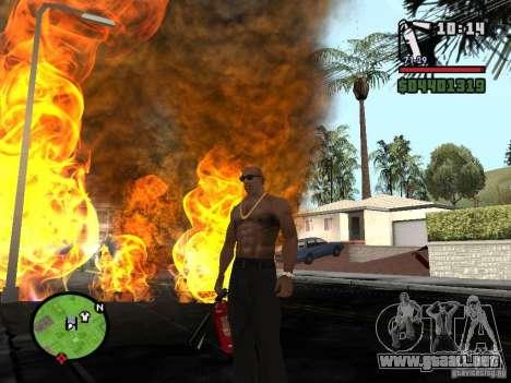 Nuevo extintor para GTA San Andreas sucesivamente de pantalla
