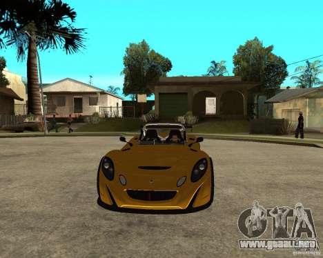 Lotus 2-Eleven para GTA San Andreas vista hacia atrás