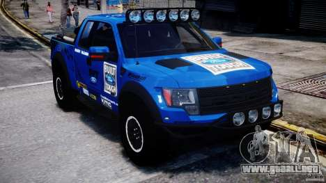 Ford F150 Racing Raptor XT 2011 para GTA 4 vista hacia atrás