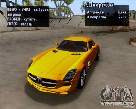 Mercedes-Benz SLS AMG V12 TT Black Revel para vista inferior GTA San Andreas
