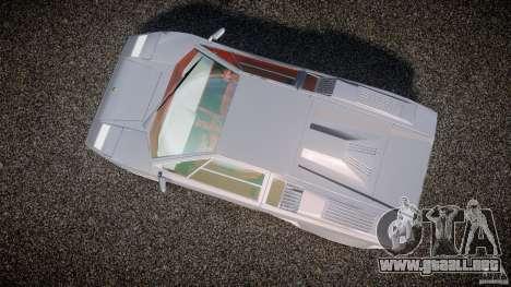 Lamborghini Countach para GTA 4 visión correcta