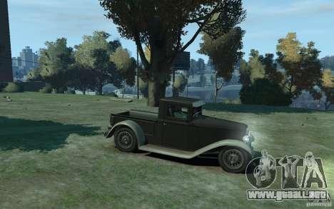 Ford Pickup 1930 para GTA 4 vista hacia atrás