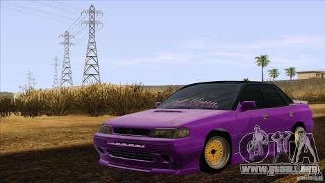 Subaru Legacy Drift Union para GTA San Andreas vista posterior izquierda
