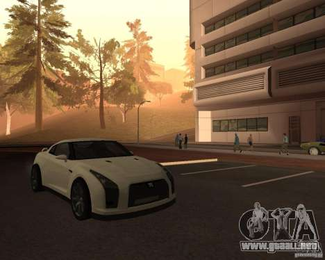 Nissan GT-R Pronto para la visión correcta GTA San Andreas