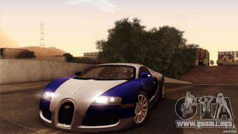 Bugatti Veyron 16.4 para la visión correcta GTA San Andreas