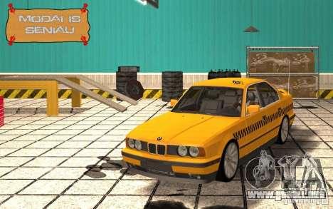 BMW E34 535i Taxi para visión interna GTA San Andreas