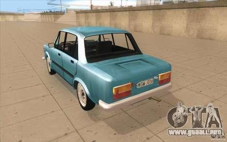 Fiat 125p para GTA San Andreas vista posterior izquierda