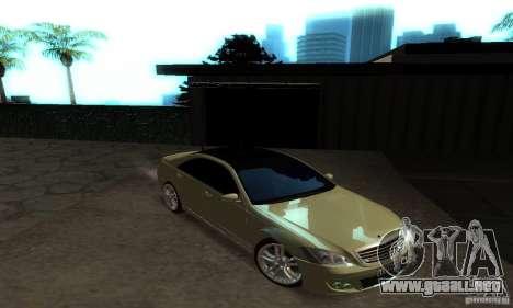 Mercedes-Benz S500 W221 Brabus para visión interna GTA San Andreas