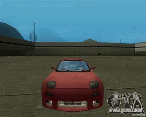 Mazda RX-7 weapon war para GTA San Andreas vista posterior izquierda