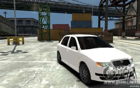 Skoda Fabia para GTA 4 vista hacia atrás