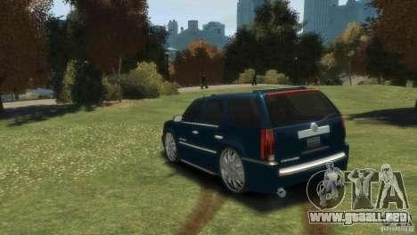 Cadillac Escalade Dub para GTA 4 Vista posterior izquierda