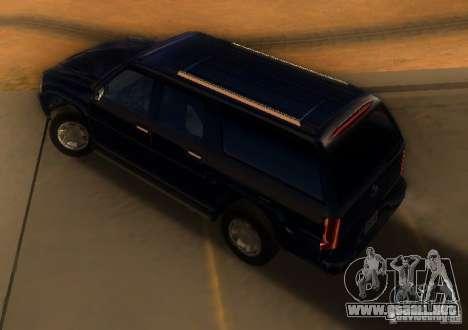 Cadillac Escalade ESV 2006 para GTA San Andreas vista posterior izquierda