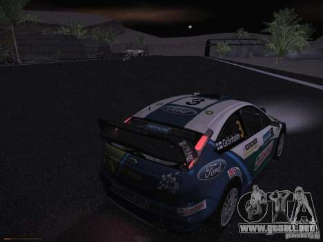Ford Focus RS WRC 2006 para GTA San Andreas interior