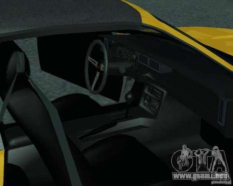Chevrolet Camaro 1992 para la visión correcta GTA San Andreas