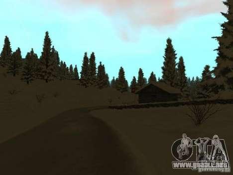 Camino de invierno para GTA San Andreas sucesivamente de pantalla