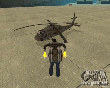 Transporte aéreo Pak para vista inferior GTA San Andreas