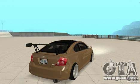 Toyota Scion tC Edited para GTA San Andreas left