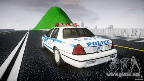 Ford Crown Victoria Police Department 2008 LCPD para GTA 4 Vista posterior izquierda