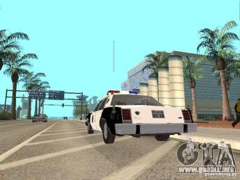 Ford LTD Crown Victoria Interceptor LAPD 1985 para la visión correcta GTA San Andreas