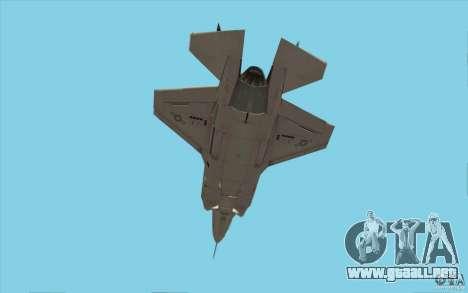 Lockheed F-35 Lightning II para visión interna GTA San Andreas