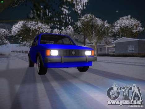 Volkswagen Rabbit GTI para la vista superior GTA San Andreas