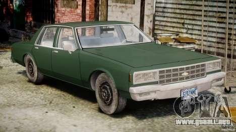 Chevrolet Impala 1983 v2.0 para GTA 4 left