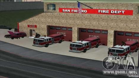 El fuego animado en el SF v3.0 Final para GTA San Andreas segunda pantalla
