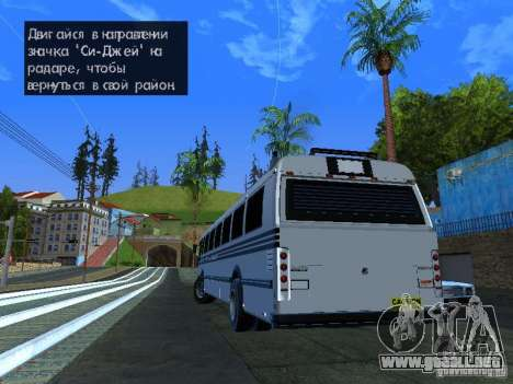 Prison Bus para GTA San Andreas left