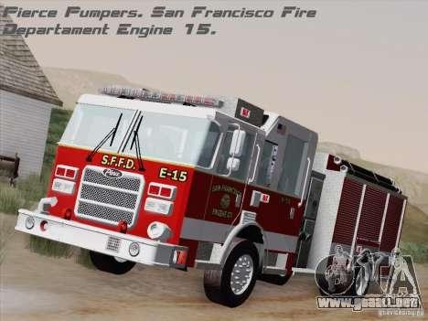 Pierce Pumpers. San Francisco Fire Departament para GTA San Andreas