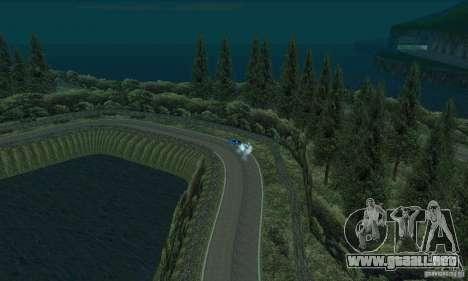La ruta del rally para GTA San Andreas novena de pantalla