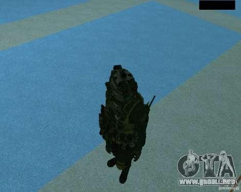 El tercer soldado de la piel Cod MW 2 para GTA San Andreas sexta pantalla