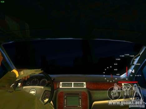 Chevrolet Silverado Final para visión interna GTA San Andreas