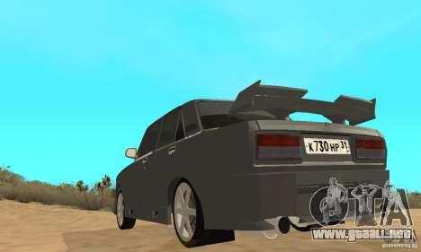 VAZ 2105 noctívaga para GTA San Andreas vista hacia atrás