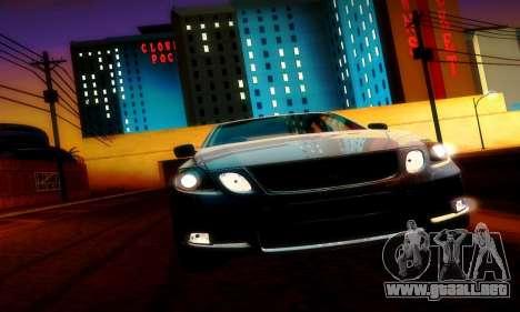 Lexus GS430 para visión interna GTA San Andreas