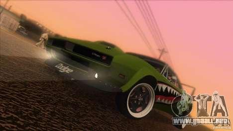 Dodge Charger RT SharkWide para vista inferior GTA San Andreas